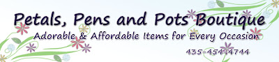It's A Giveaway! Petals, Pens and Pots Boutique is giving two lucky readers $15 worth of Products!