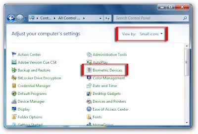 WeB LoG'S JuUiER: Remove fingerprint data on windows 7