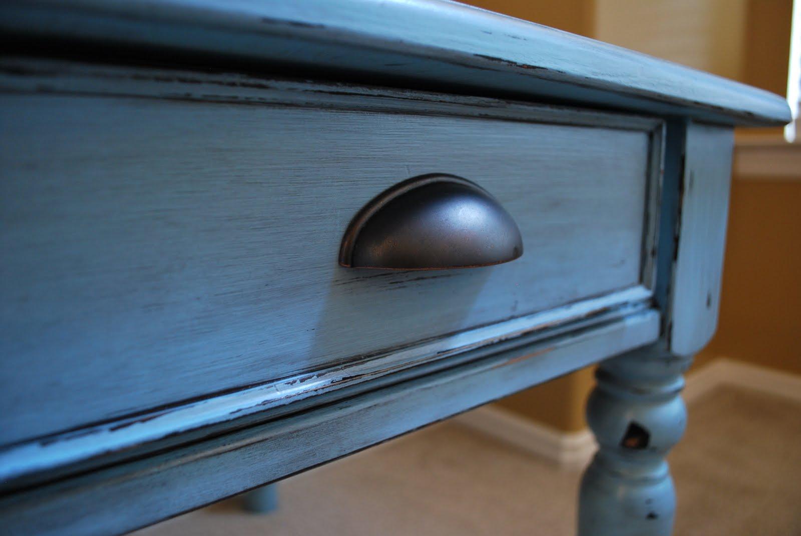 Brand-new B's Refurnishings: Robin Egg Blue, Distressed Side Tables LD53