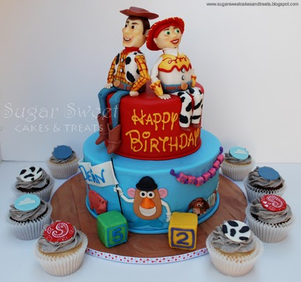 Woody And Jessie Cake Toppers