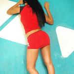 Andrea Rincon, Selena Spice Galeria 2 : Minifalda Roja y Tanga Blanca Foto 3