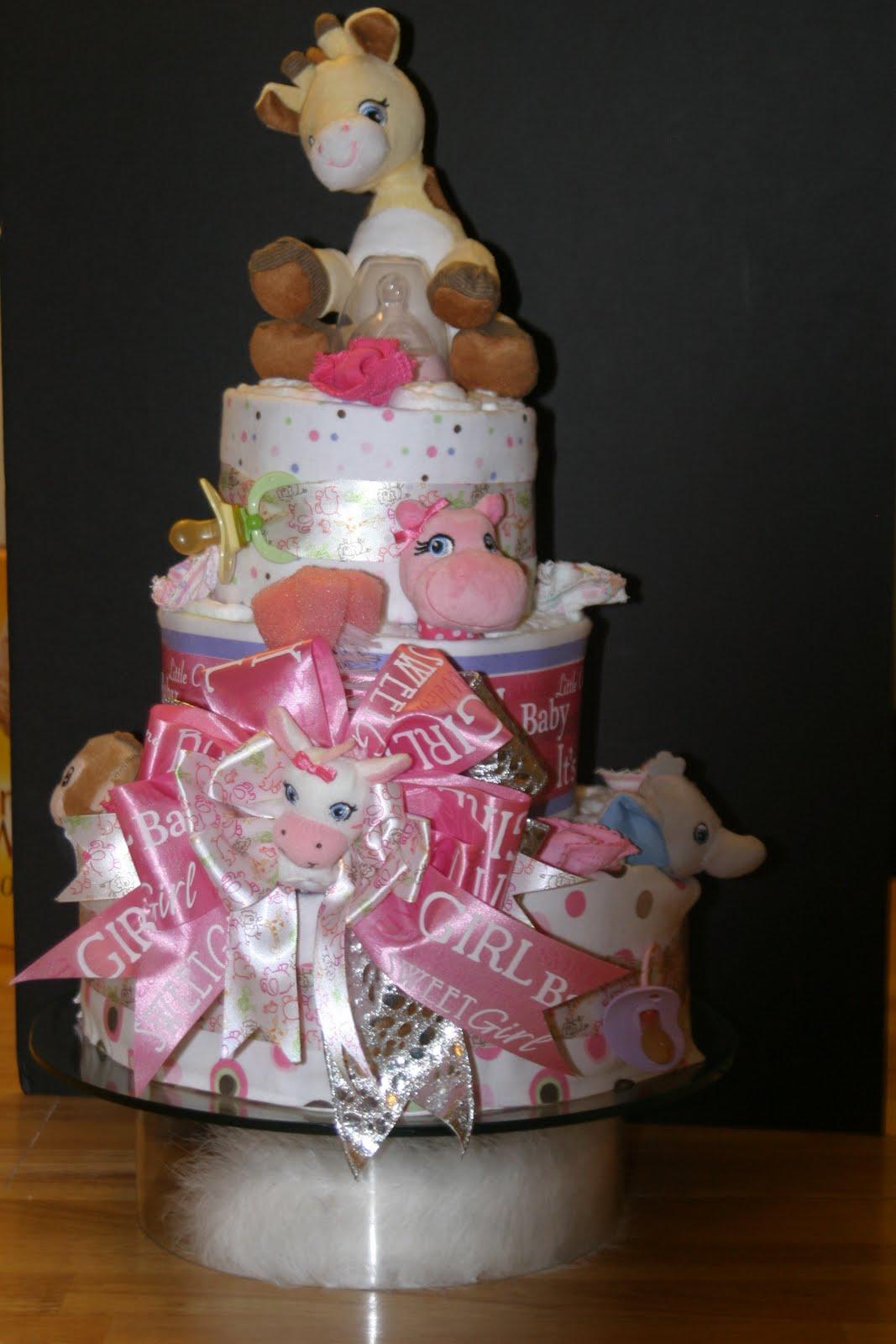 Make Girl Diaper Cake How