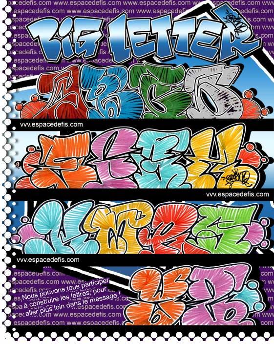 New Graffiti Tag Graffiti Big Letter Graffiti Alphabet