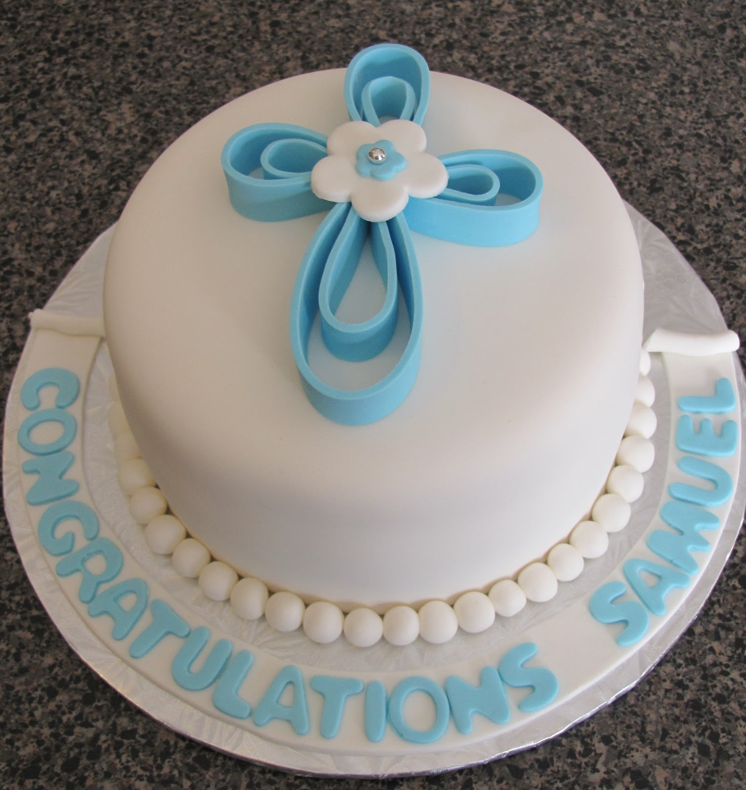 Baptism Cross Cake Decorating Ideas