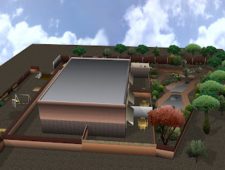 Jardin vista aerea 3D