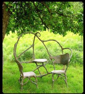 Le mobilier de jardin sculpté de Xavier Dumont - Paris côté jardin