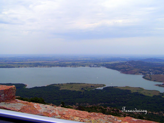 View of lake near Mount Scott in Lawton, Oklahoma area