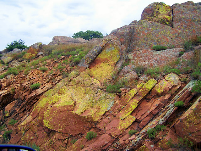 Looking up hill at Mount Scott in Lawton, OK area