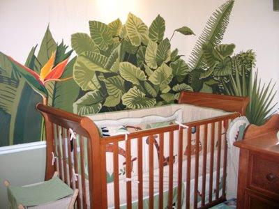 Tropical Foliage Nursery Mural