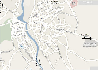 mapa da cidade de tomar Tomar, a Cidade: MAPA DE TOMAR mapa da cidade de tomar