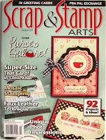 Faux leather technique in Scrap & Stamp Arts