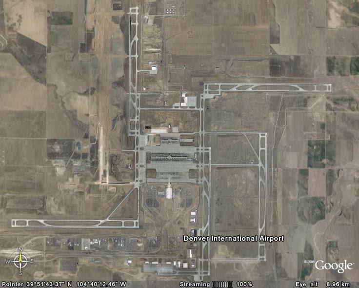 google earth images: denver international airport (den)