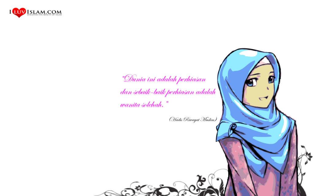 Gambar Animasi Muslim dan Muslimah Media Informasi