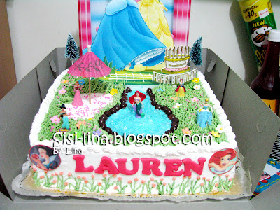 Sisi Lina Princess Birthday Cake
