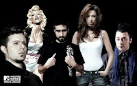 From left to right Emre Aydin, Hande Yener, Sagopa Kajmer, Hadise, Hayko Cepkin; Turkish entrants for MTV Euro Awards 2008