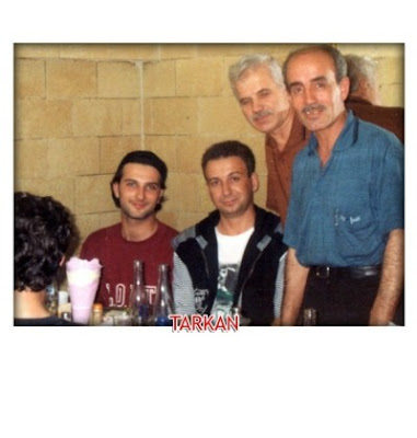 Tarkan eating out at the Rumeli Kofteci in Sirkeci, Istanbul in the early 1990s