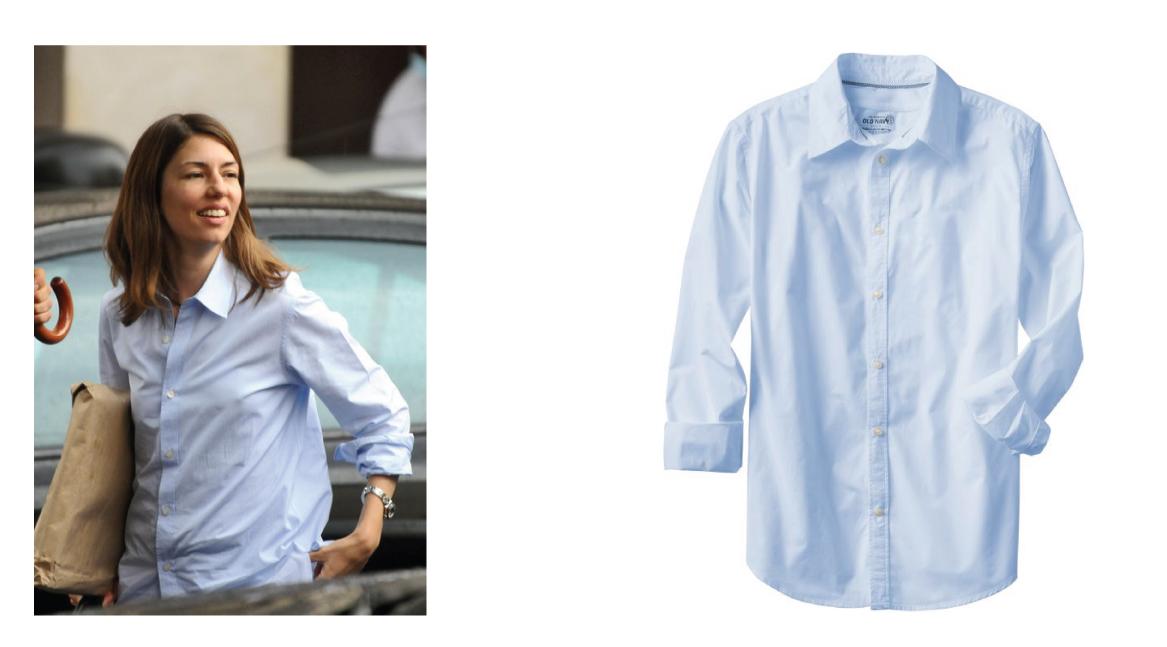 e772ed8cfce I love how Sofia Coppola wearing just a simple shirt.