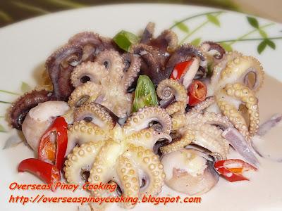Ginataang Pugita, Baby Octopus in Coconut Milk