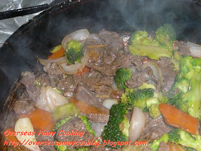 Beef and Broccoli Stirfry - Cooking Procedure