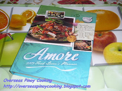 Amore: A Food Lover's 2009 Planner
