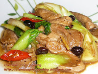 Stirfry Pork and Bok Choy with Black Bean Sauce