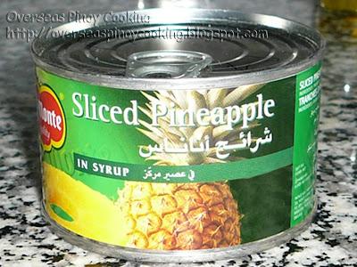 Adobong Atay - Sliced Pineapple