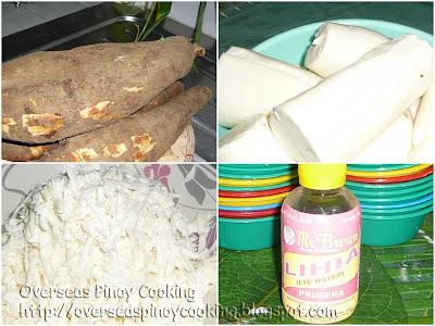 Pichi Pichi (Grated Cassava)- Ingredients