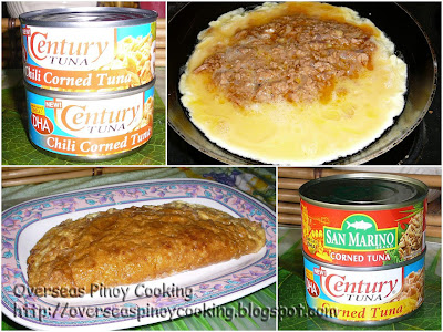 Corned Tuna Omelet - Cooking Procedure