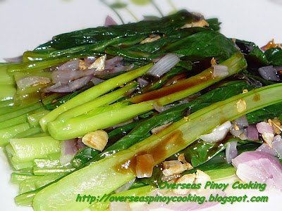 Choy Sum with Oysters Sauce