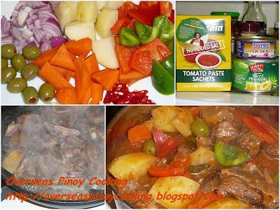 Kalderetang Kambing - Cooking Procedure