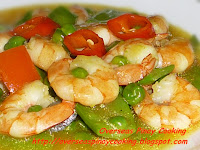 Shrimp with Green Peas