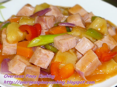 Sweet and Sour Ham with Pineapple