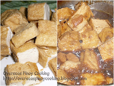 Tokwa at Baboy Adobo with Oyster Sauce - Cooking Procedure
