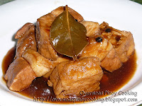 Tokwa at Baboy Adobo with Oyster Sauce