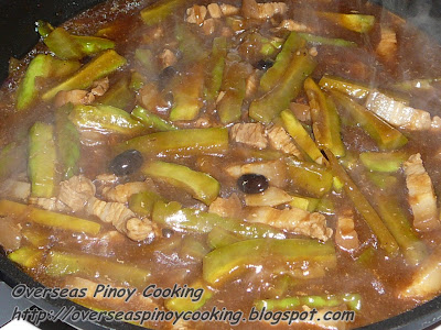 Pork Ampalaya with Black Beans - Cooking Procedure