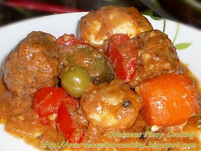 Beef Meatballs Kaldereta