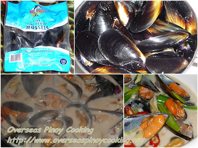 Mussels in Coconut Milk - Cooking Procedure
