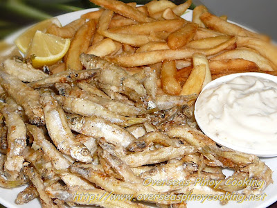 Dilis and Chips with Tartar and Honey Dip