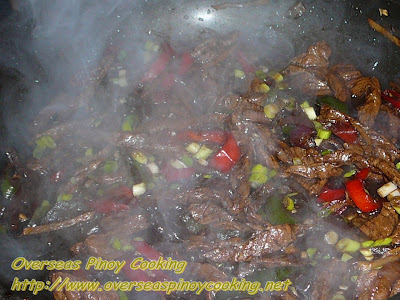 Beef Stirfry in Dark Soy Sauce and Lemon - Cooking Procedure