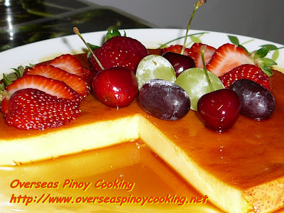 Baked Leche Flan - with fruits