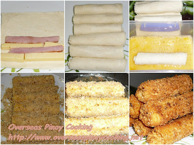 Pinoy Ham and Cheese Bread Roll - Cooking Procedure