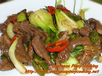 Beef with Bok Choy in Oyster Sauce