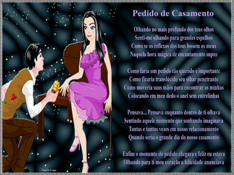 PEDIDO DE CASAMENTO - Poemas De Alegria