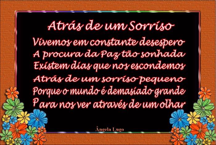 ATRÁS DE UM SORRISO - Frases E Pensamentos