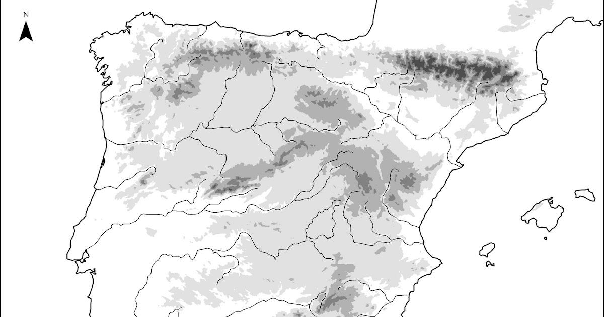 Mapa Relieve España Mudo.Recursos Mapa Mudo De Las Unidades Del Relieve