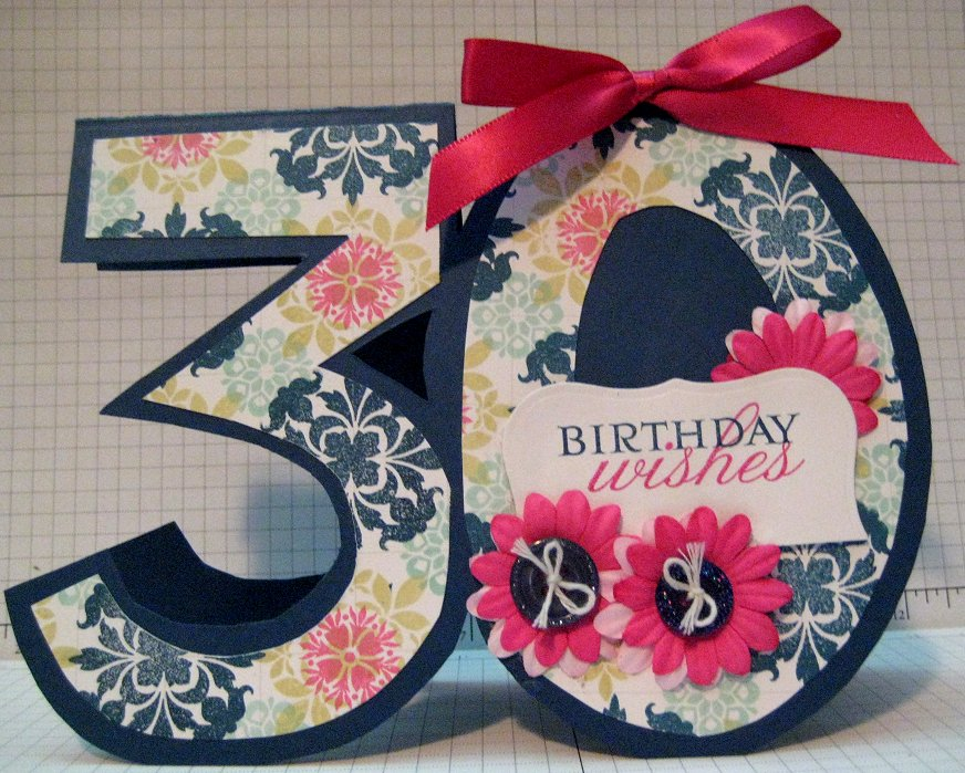 My Bff Of 27 Years Turned The Big 30 A Few Weeks Ago An This Is Card I Made Her And Then Proceded To Bug Baout Being Old