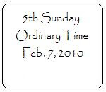 Catholic Faith Education: Fifth Sunday in Ordinary Time
