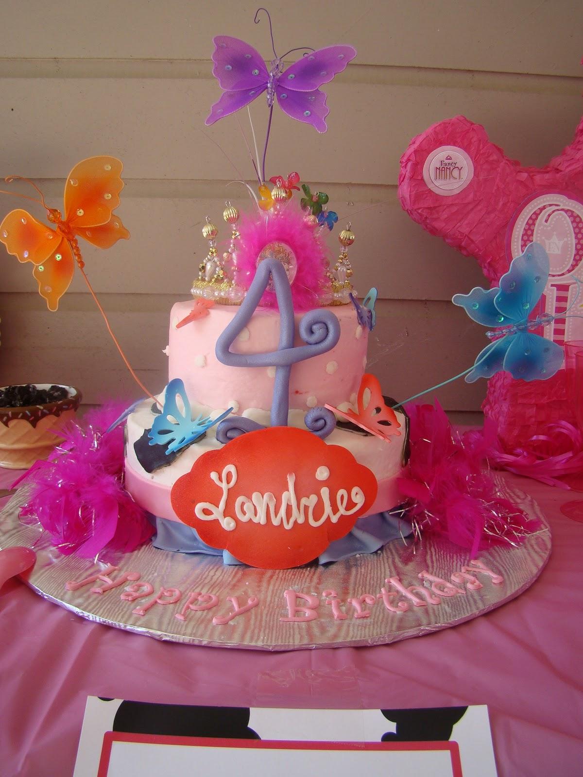 Same Monogram Fancy Nancy Birthday Party Landrie Is 4