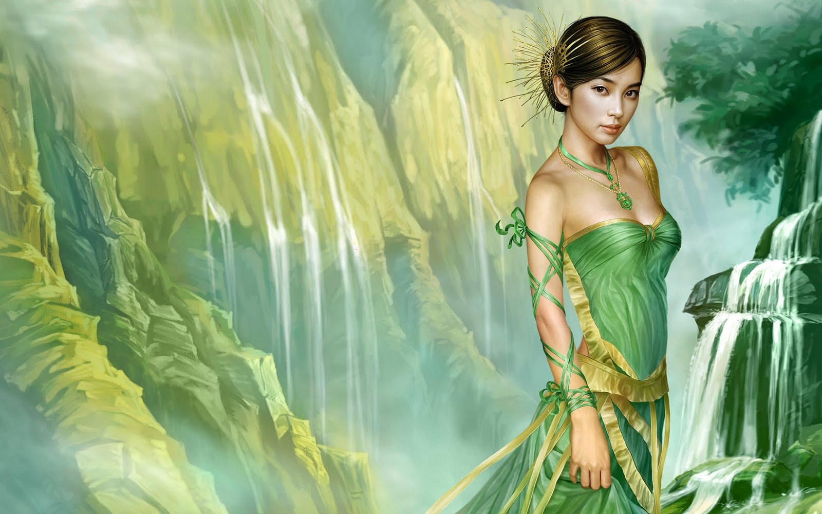New Art Funny Wallpapers Jokes New Fantasy Girls -5009