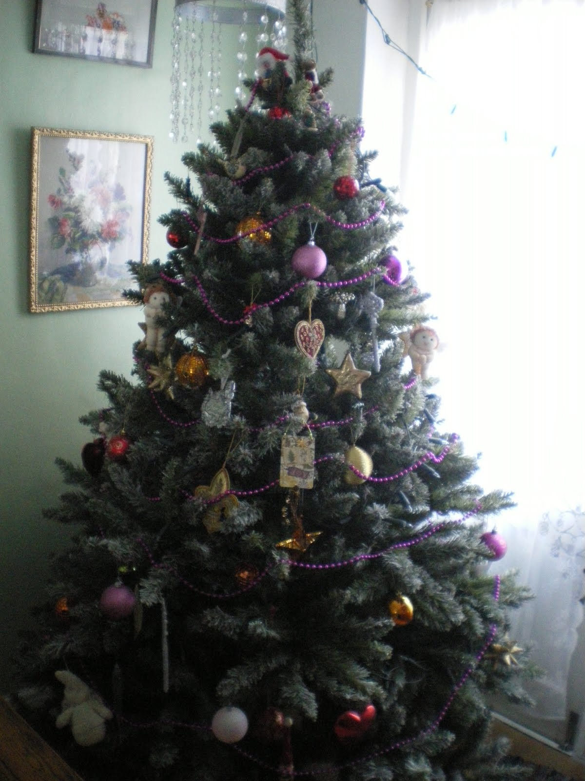 The Shabby Chic Bohemian Christmas Tree Is Up